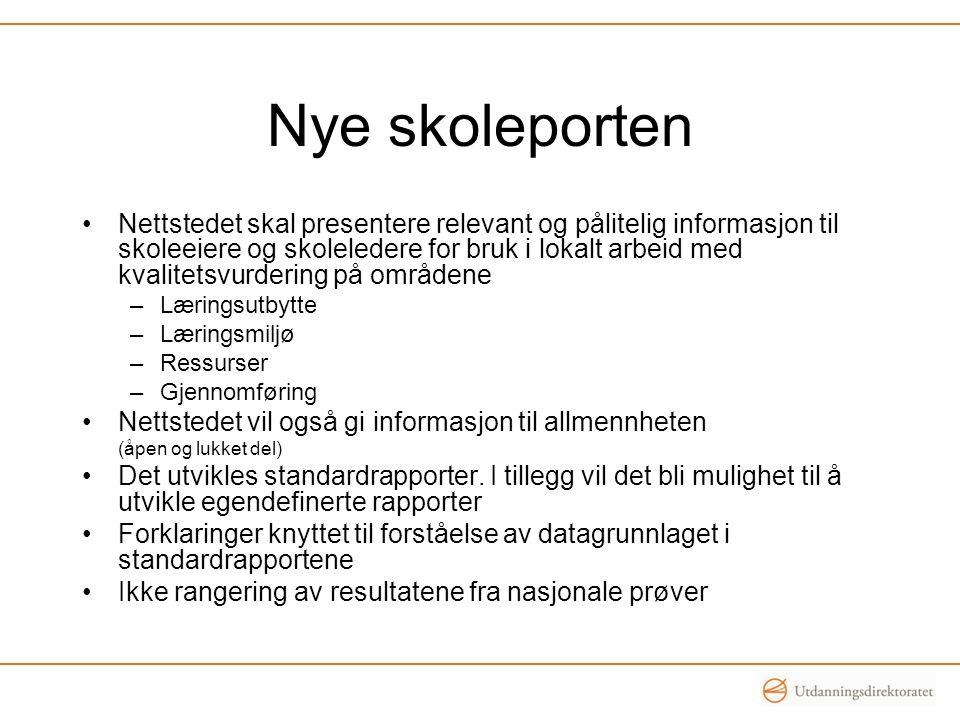 Sluttrapporter Analyse av resultatene fra nasjonale prøver –Representativt utvalg på landsbasis –Hva sier resultatene om norske elevers ferdigheter.