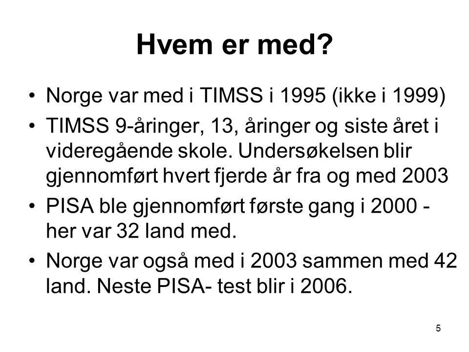 16 Hvorfor er resultatet så dårlig i Norge også i PBL-liknende oppgaver.