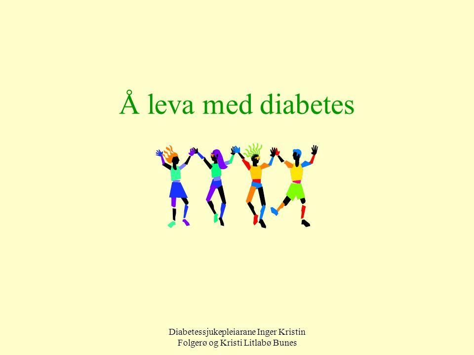 Diabetessjukepleiarane Inger Kristin Folgerø og Kristi Litlabø Bunes Å leva med diabetes