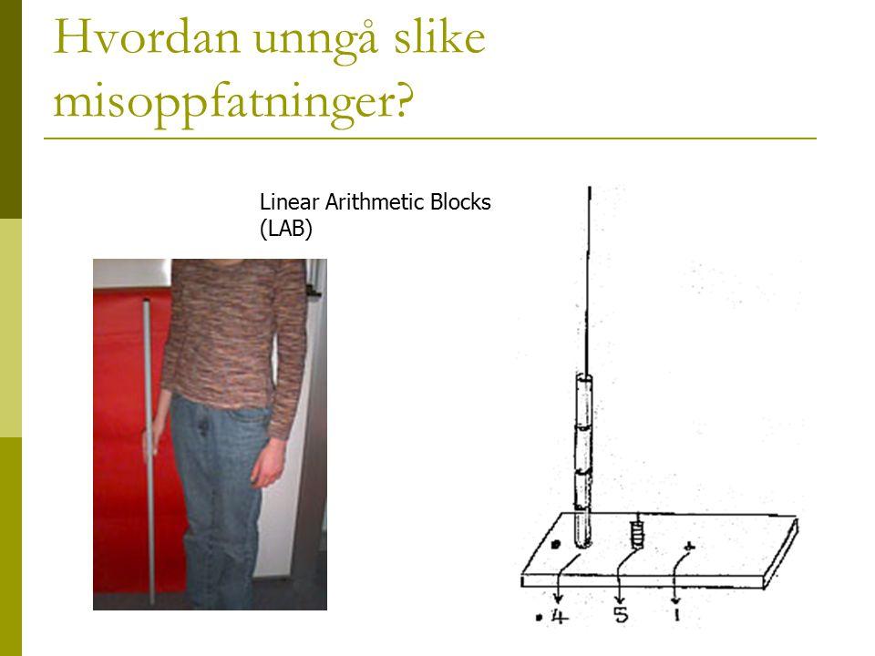 Hvordan unngå slike misoppfatninger? Linear Arithmetic Blocks (LAB)