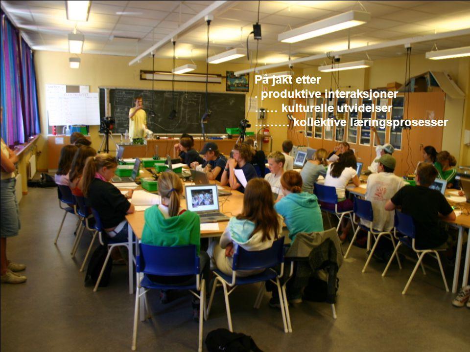På jakt etter. produktive interaksjoner …… kulturelle utvidelser ……… kollektive læringsprosesser