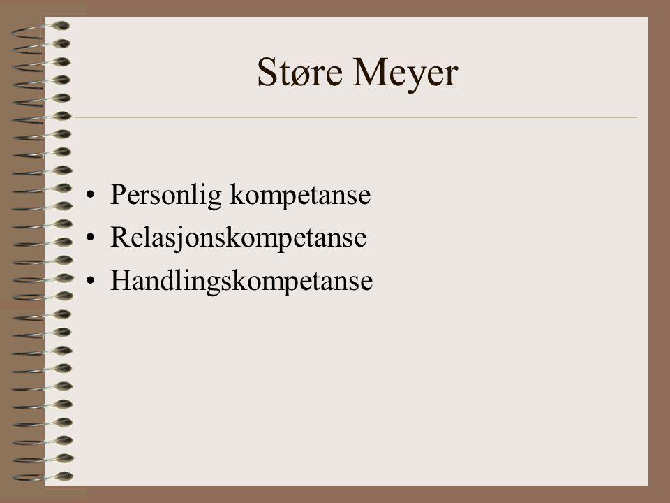 Støre Meyer Personlig kompetanse Relasjonskompetanse Handlingskompetanse