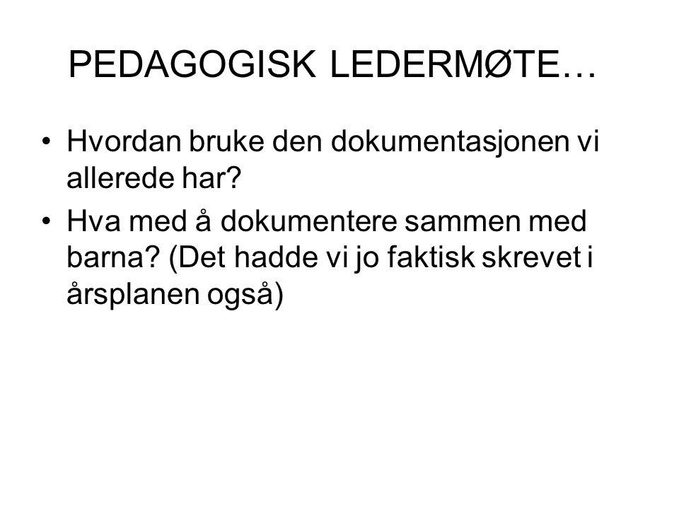 PERSONALMØTE ONSDAG 7.