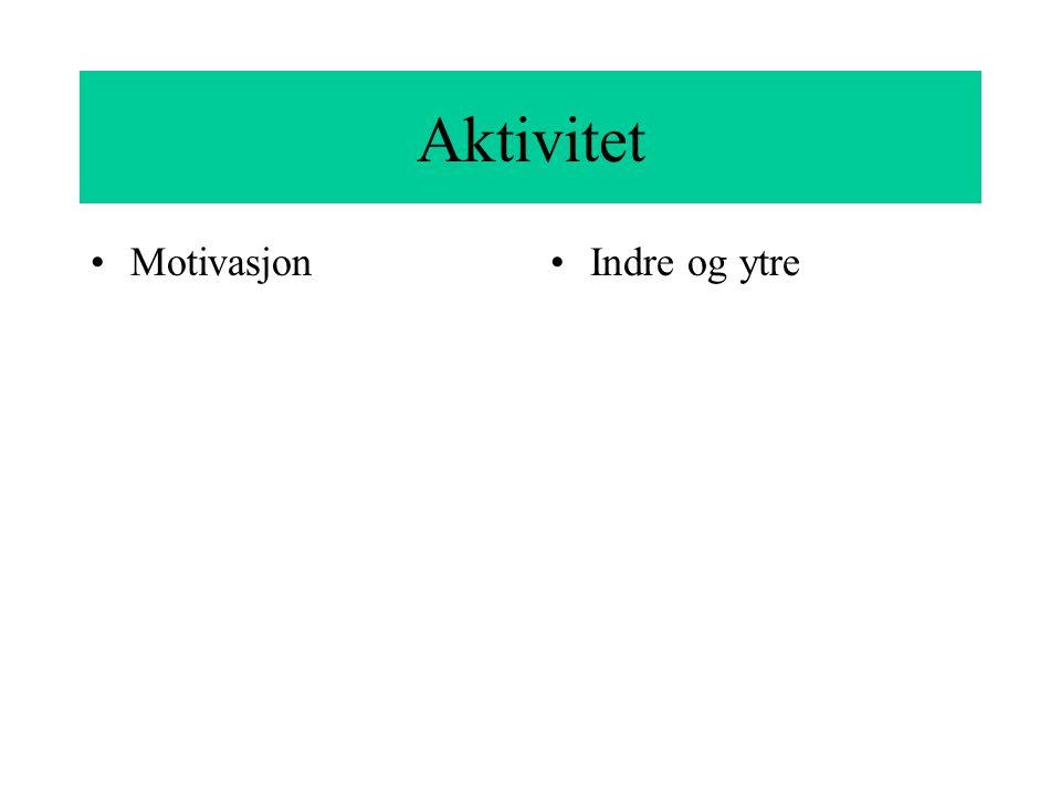 Aktivitet MotivasjonIndre og ytre