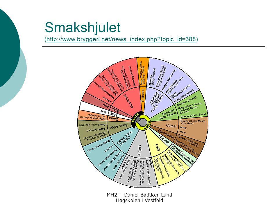 MH2 - Daniel Bødtker-Lund Høgskolen i Vestfold Smakshjulet (http://www.bryggeri.net/news_index.php?topic_id=388)http://www.bryggeri.net/news_index.php