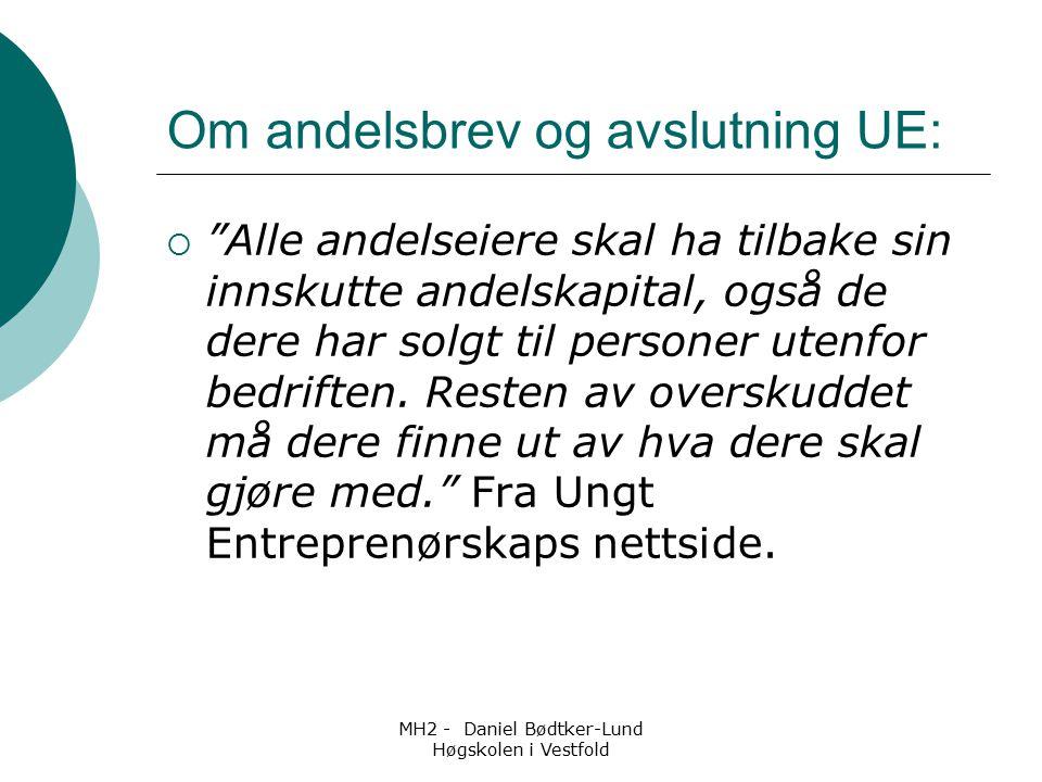 MH2 - Daniel Bødtker-Lund Høgskolen i Vestfold Andre antydninger  Jentene har flere ting de ikke liker enn guttene  Elever som har spist flere fremmede matvarer, har færre matvarer de ikke liker