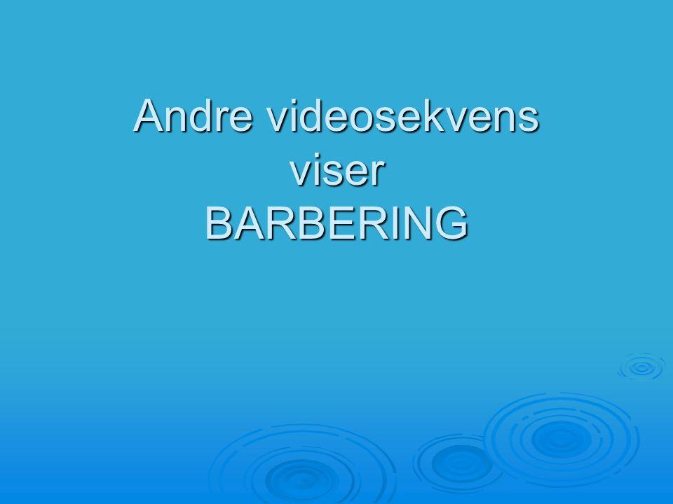 Andre videosekvens viser BARBERING