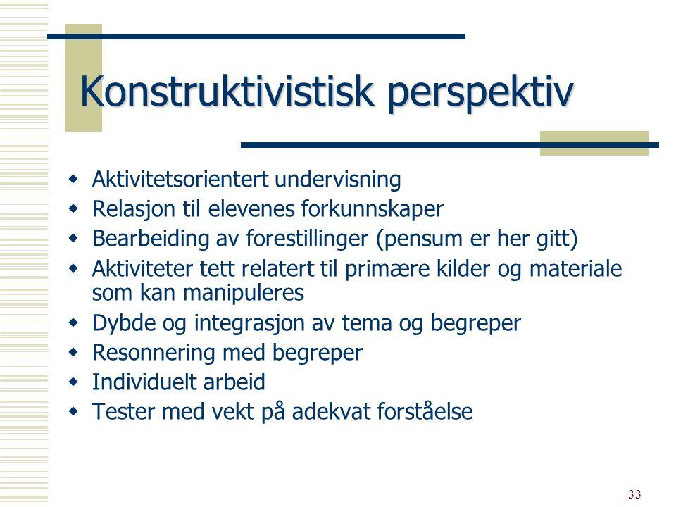 34 Sosiokulturelt perspektiv  Problem og aktivitetsorg.