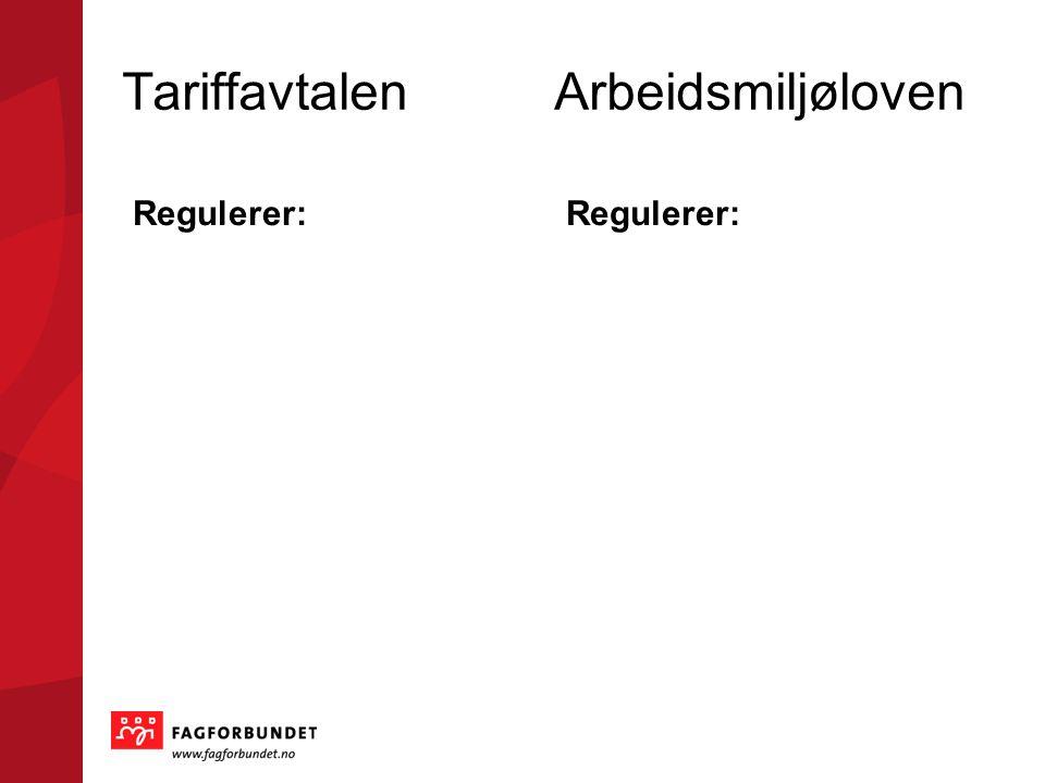 Den første landsomfattende tariffavtalen En tariffavtale er…. En avtale mellom arbeidstaker og arbeidsgiverorganisasjoner Alltid bedre enn arbeidsmilj