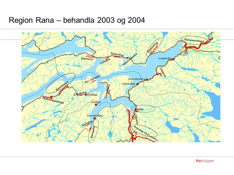 Region Rana – behandla 2003 og 2004