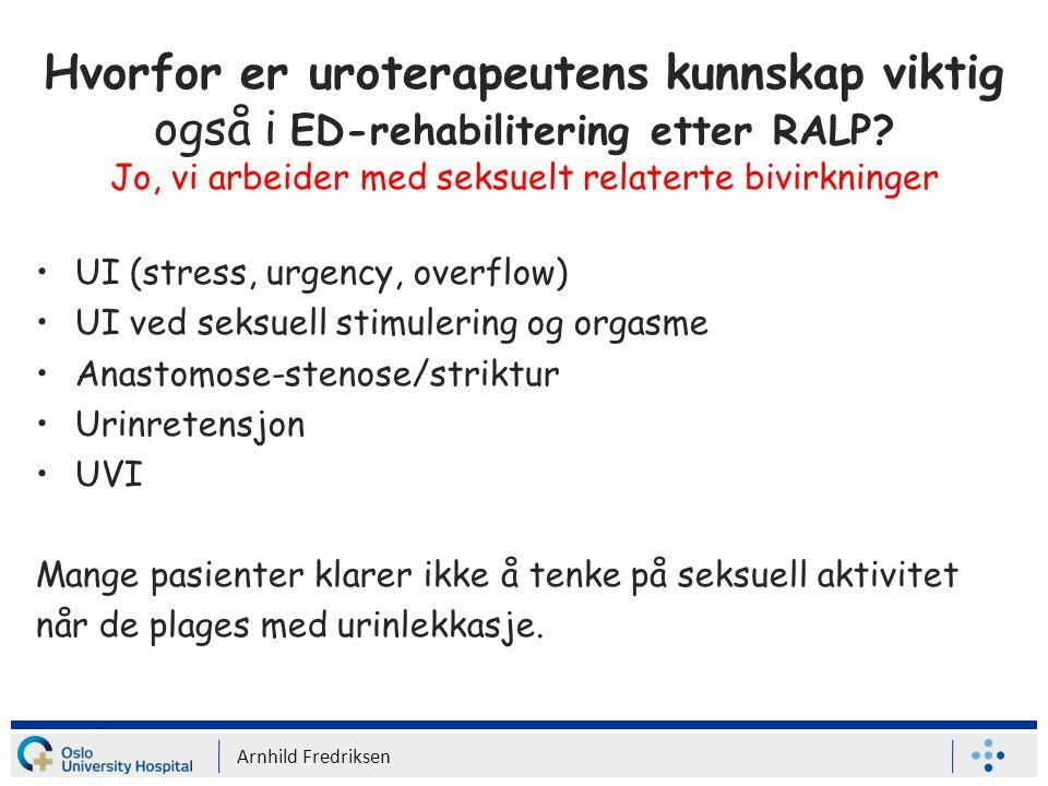 RP- ereksjon - rehabilitering Mulhall et al.
