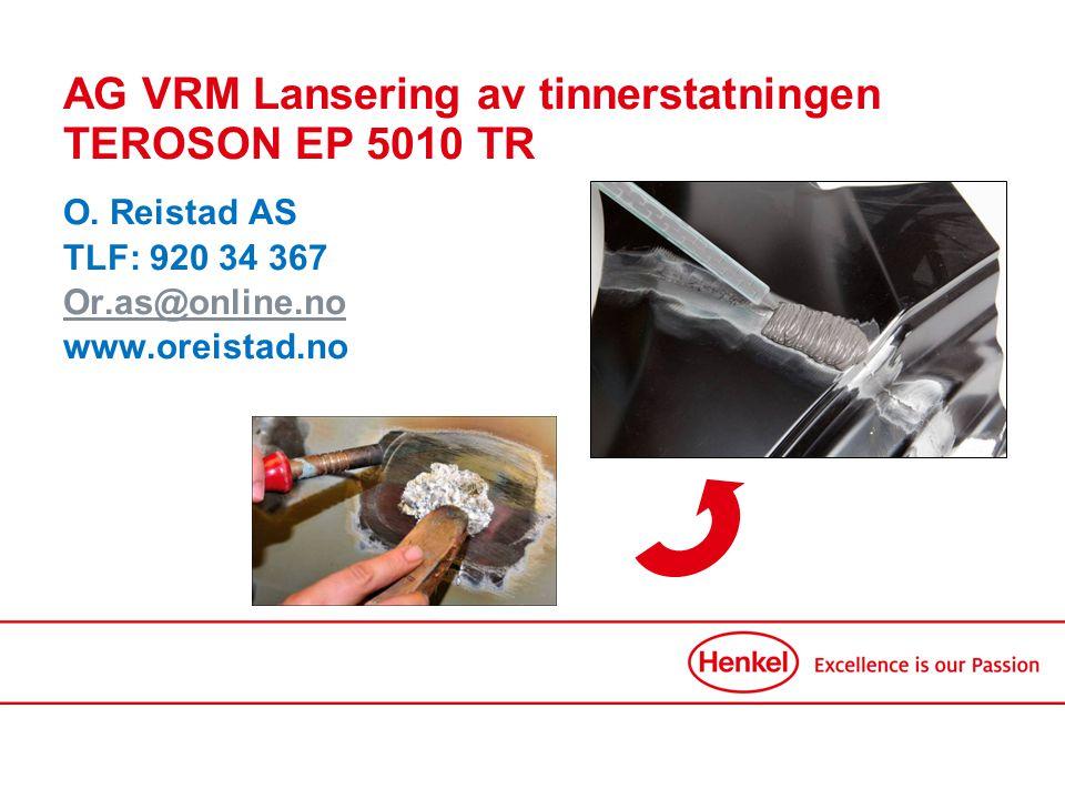 TEROSON EP 5010 TR Applikasjonsbeskrivelse I tilfeller ved støt/skader på metalldeler må overflaten repareres.