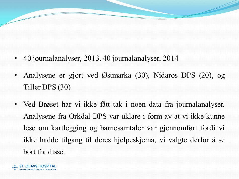 40 journalanalyser, 2013.