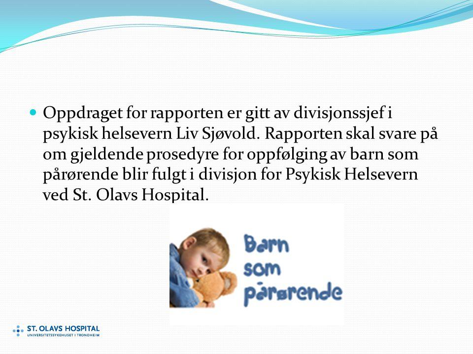 Oppdraget for rapporten er gitt av divisjonssjef i psykisk helsevern Liv Sjøvold.