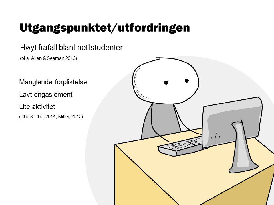 Utgangspunktet/utfordringen Høyt frafall blant nettstudenter (bl.a.