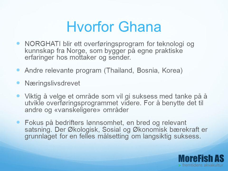Hvorfor Ghana NORGHATI blir ett overføringsprogram for teknologi og kunnskap fra Norge, som bygger på egne praktiske erfaringer hos mottaker og sender.