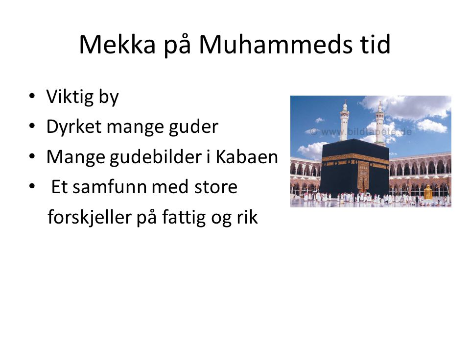 Bønnen Fem ganger om dagen Vendt mot Mekka Rituell vask før bønn Bønnematte Kroppsbevegelser som viser at den troende underkaster seg Allah