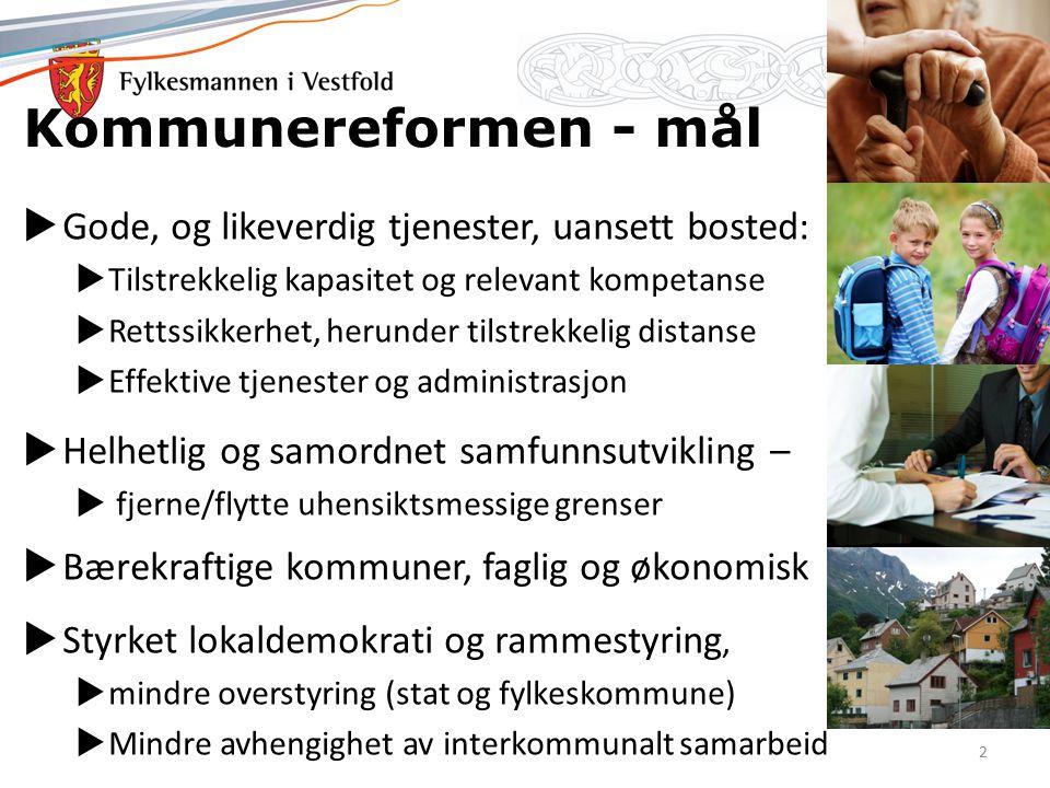 Hva har SAS lært oss - suksesskriterier Den nasjonale reformen – SAS tok oppdraget på alvor En lang debatt fra Framtidas kommuner til dagens reform Om utgangspunktet – 5K og møtet med virkeligheten – Stokke – motoren – sa farvel til Holmestrand, vurderte både Tønsberg og Sandefjord, valgte sistnevnte, tross pendlestrøm – Andebu – deltok i 5K – samarbeidet med Stokke, men syns 2K ble for smått, fulgte Stokke mot Sandefjord – Sandefjord alltid beredt.