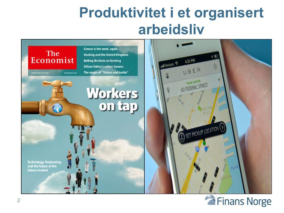 2 Produktivitet i et organisert arbeidsliv