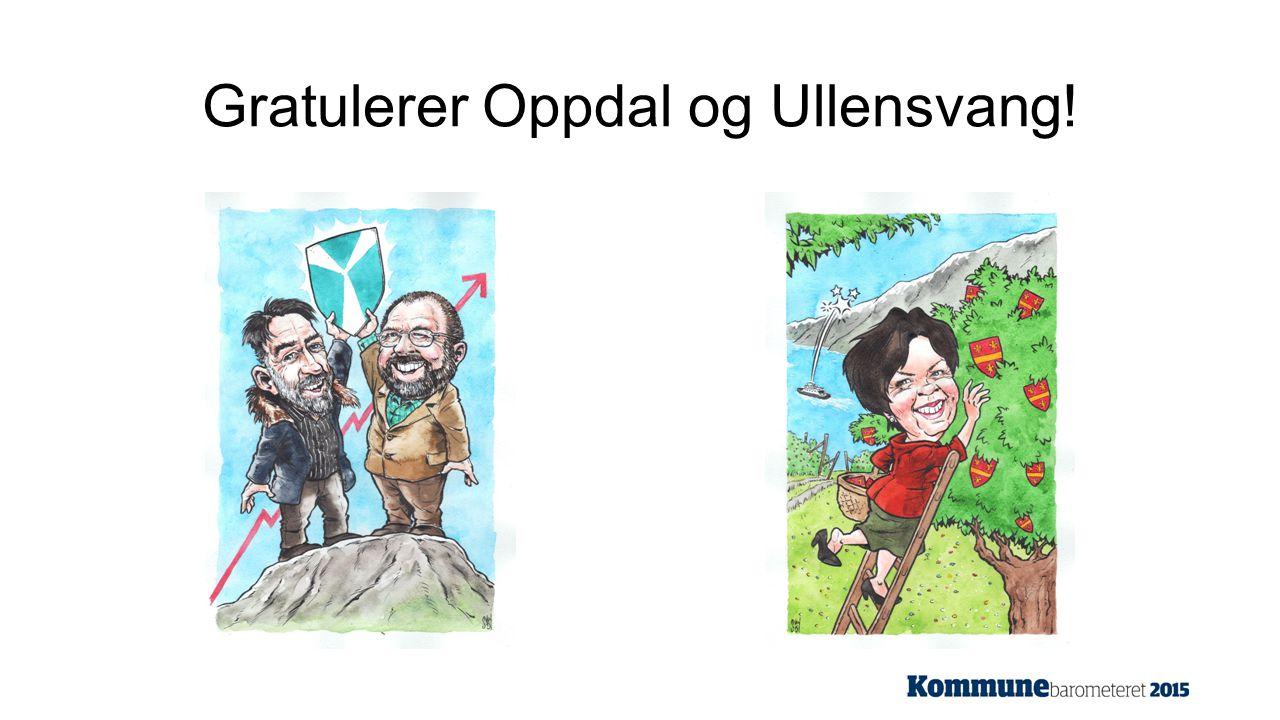 Gratulerer Oppdal og Ullensvang!
