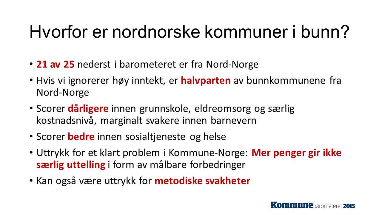 Hvorfor er nordnorske kommuner i bunn.