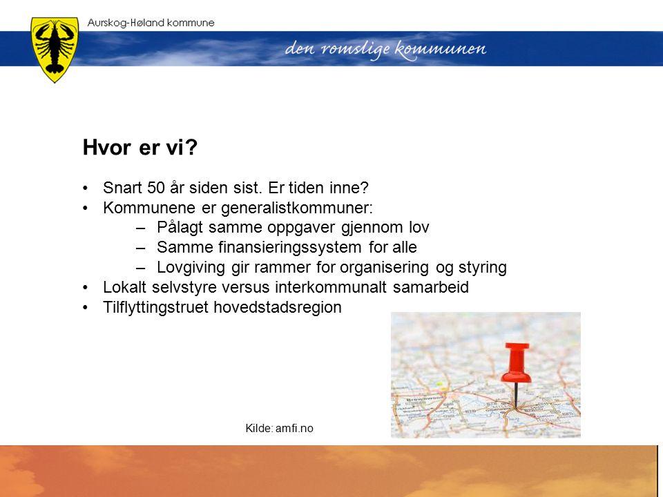 Dagens kommunestruktur Oslo og Akershus