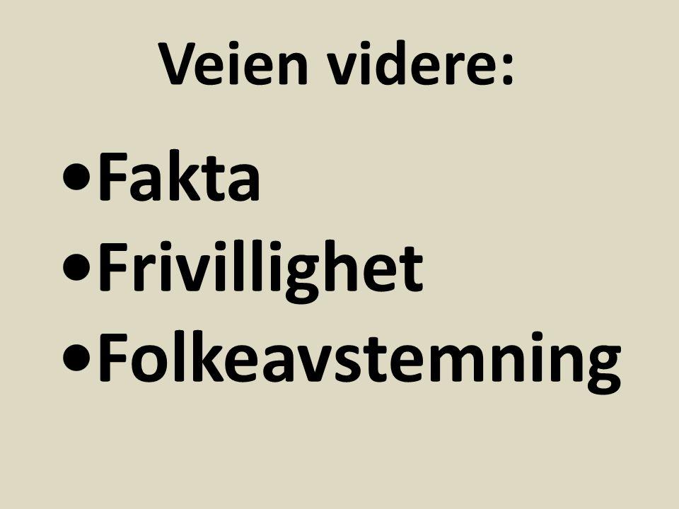 Fakta Frivillighet Folkeavstemning Veien videre: