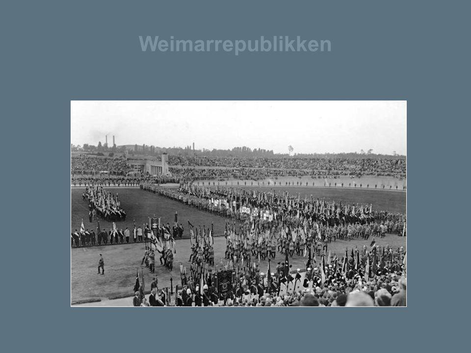 Weimarrepublikken Ved valget i 1930 var det tydelig at mange tyskere ønsket forandring.