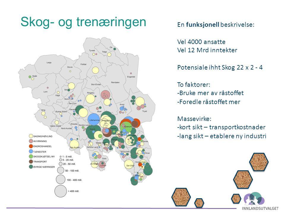Bioøkonomien – skog- og tredelen Valutainntekter etter olje-epoken i norsk økonomi Klimavennlig økonomisk virksomhet 45% av råstoffet i Norge vokser i Innlandet.