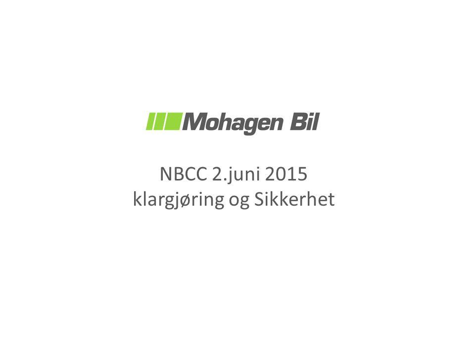 NBCC 2.juni 2015 klargjøring og Sikkerhet