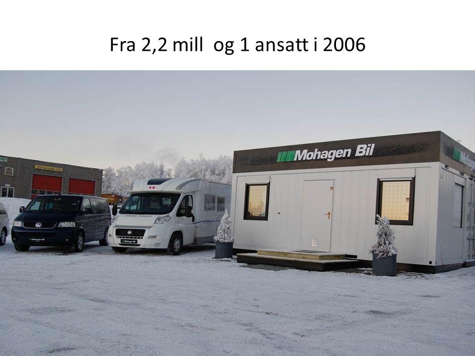 Fra 2,2 mill og 1 ansatt i 2006