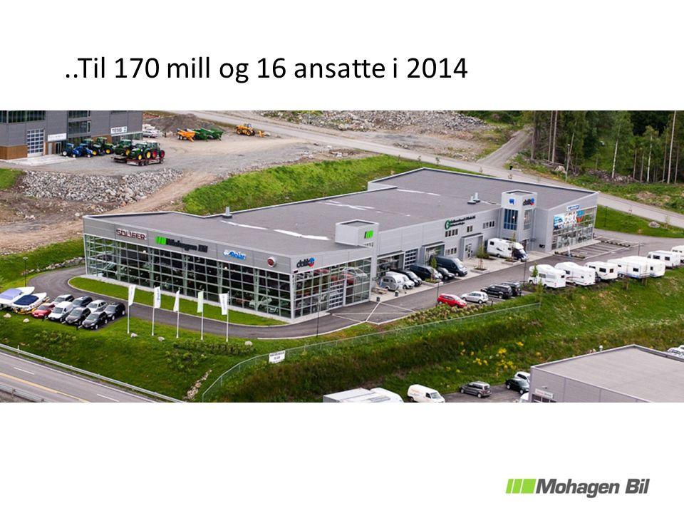 ..Til 170 mill og 16 ansatte i 2014