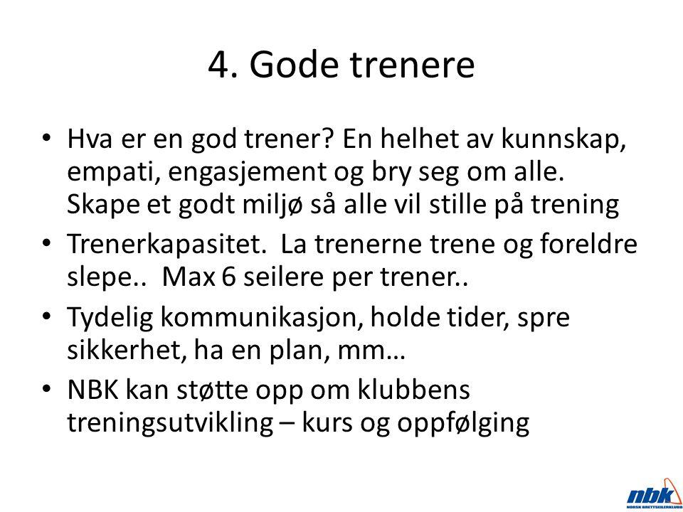4. Gode trenere Hva er en god trener.