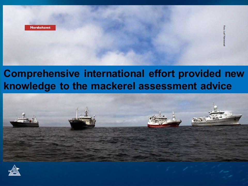 Målsetting i forhold til bestandsberegninger i ICES av nordøstatlatisk makrell Hovedformålet med det internasjonale makrell-økossytemtoktet (IESSNS) i