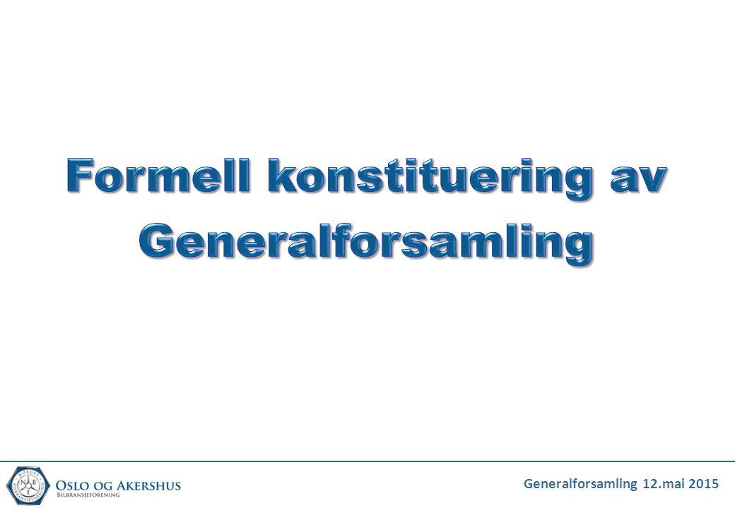 Generalforsamling 12.mai 2015 Serviceavgift / kontingent Etter at serviceavgift/kontingent ble oppjustert ca.