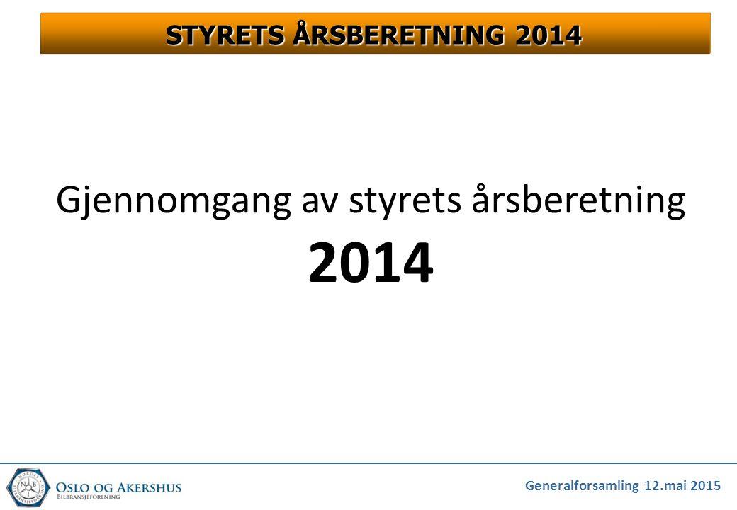 STYRETS ÅRSBERETNING 2014 Gjennomgang av styrets årsberetning 2014
