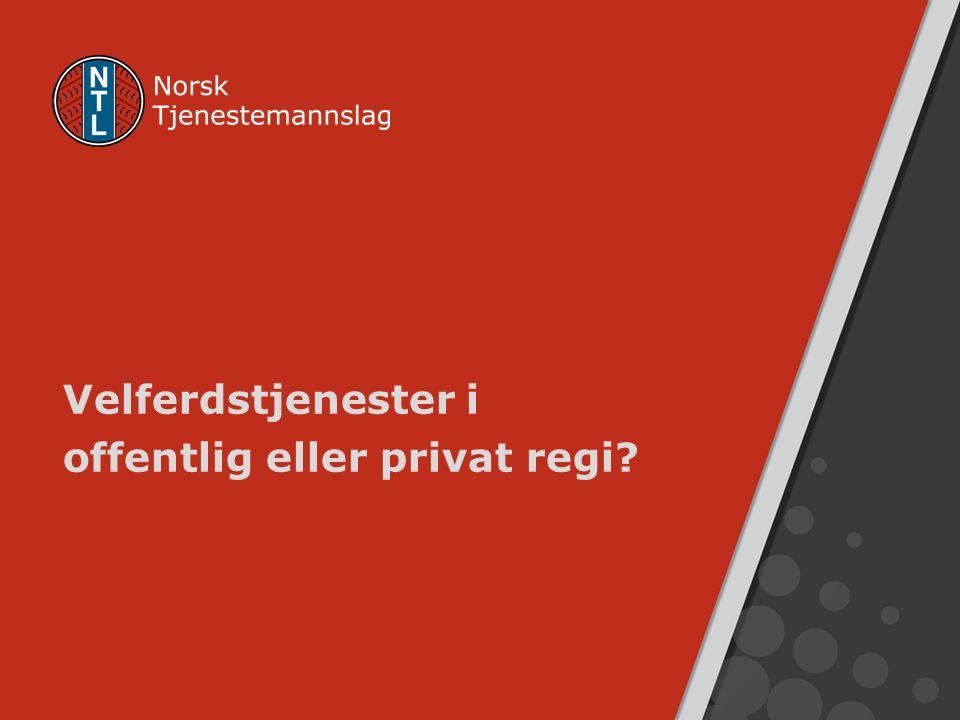 Velferdstjenester i offentlig eller privat regi?