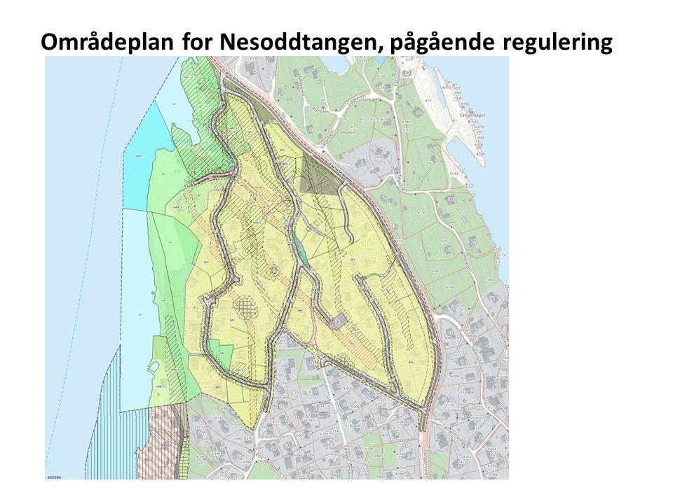 Områdeplan for Nesoddtangen, pågående regulering