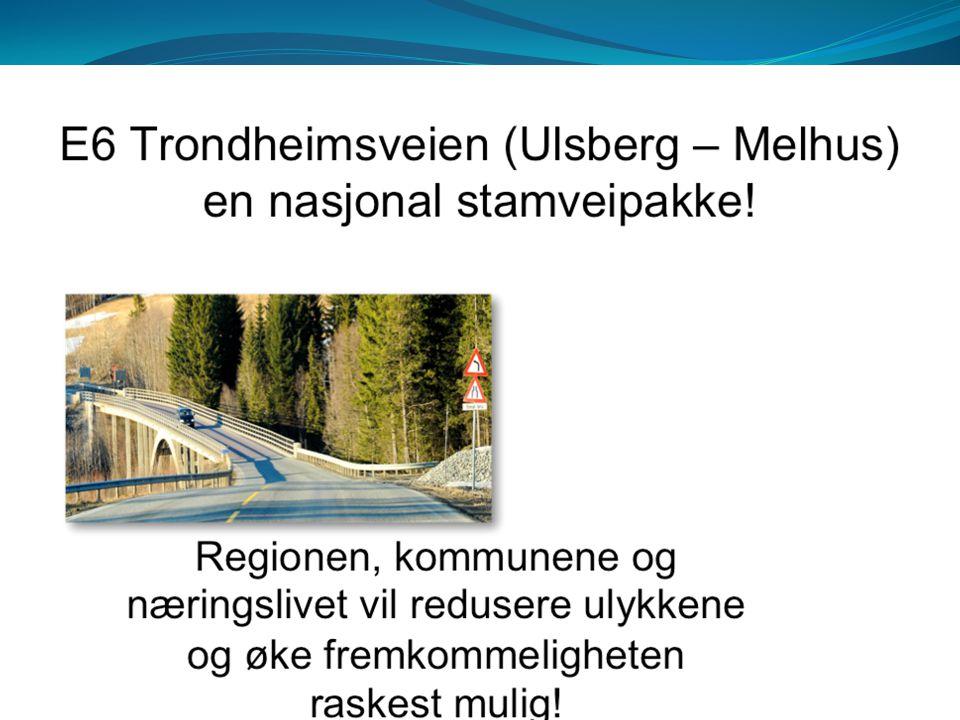 E6 mellom Ulsberg og Melhus har mange trafikkulykker, samt at dårlig og varierende vegstandard gir dårlig trafikkflyt og fremkommelighet.