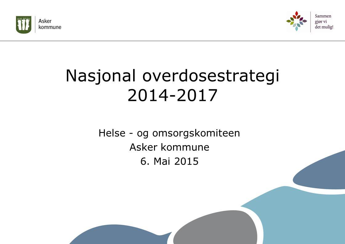 Nasjonal overdosestrategi 2014-2017 > Bakgrunn i mange overdosedødsfall i Norge > Helsedirektoratet fikk oppdraget om å utarbeide strategien og igangsette den > Lansert av Bent Høie i april 2014 med tittel: «Ja visst kan du bli rusfri- men først må du overleve»