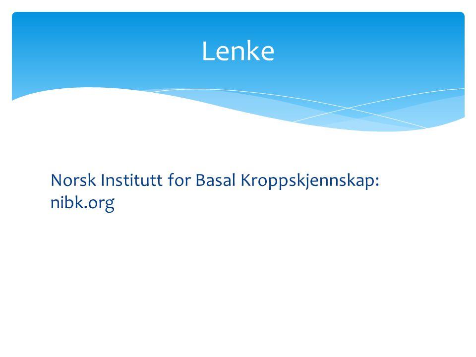 Norsk Institutt for Basal Kroppskjennskap: nibk.org Lenke