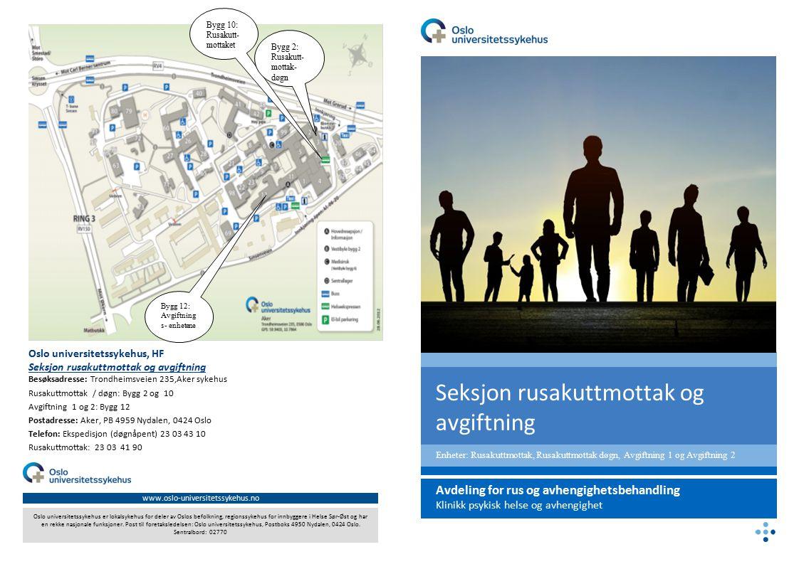 www.oslo-universitetssykehus.no Oslo universitetssykehus er lokalsykehus for deler av Oslos befolkning, regionssykehus for innbyggere i Helse Sør-Øst og har en rekke nasjonale funksjoner.