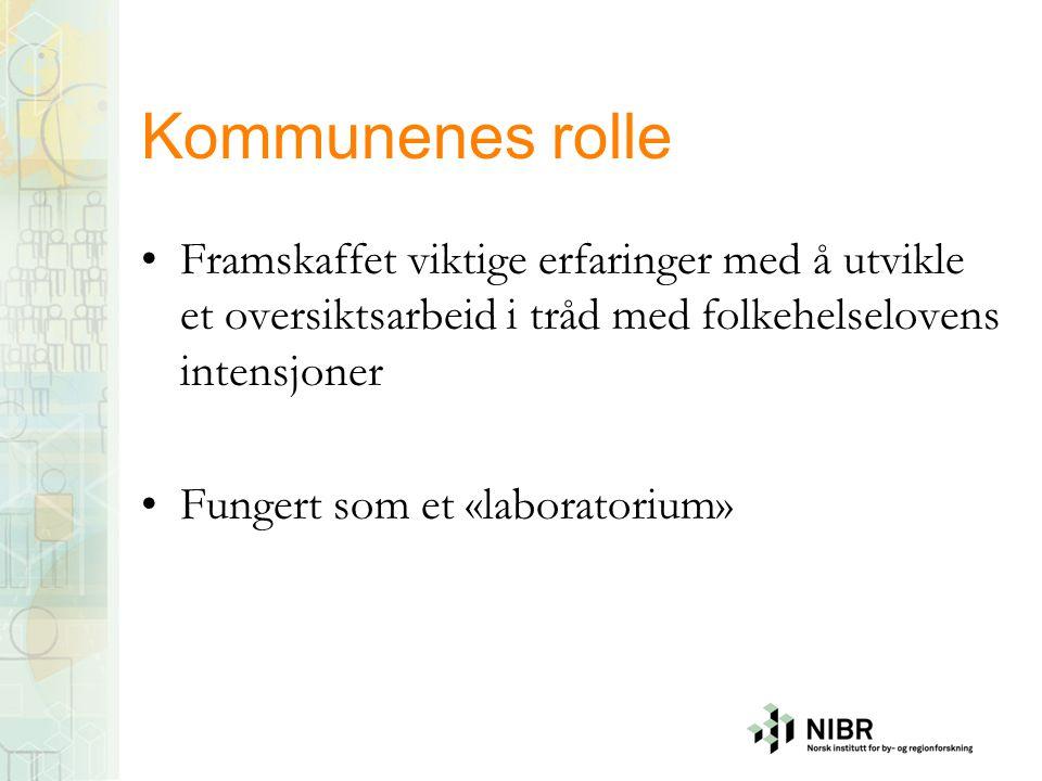 NIBRs rolle i prosjektet Kunnskapsoppsummering om oversiktsarbeidet Følgeevaluering av Vestfolds prosjekt: Intervjuer + dokumentanalyse Dialogpartner Rapporter, se: www.nibr.no/publikasjoner (NIBR-rapport, 2014:23, NIBR-rapport 2015:13)www.nibr.no/publikasjoner