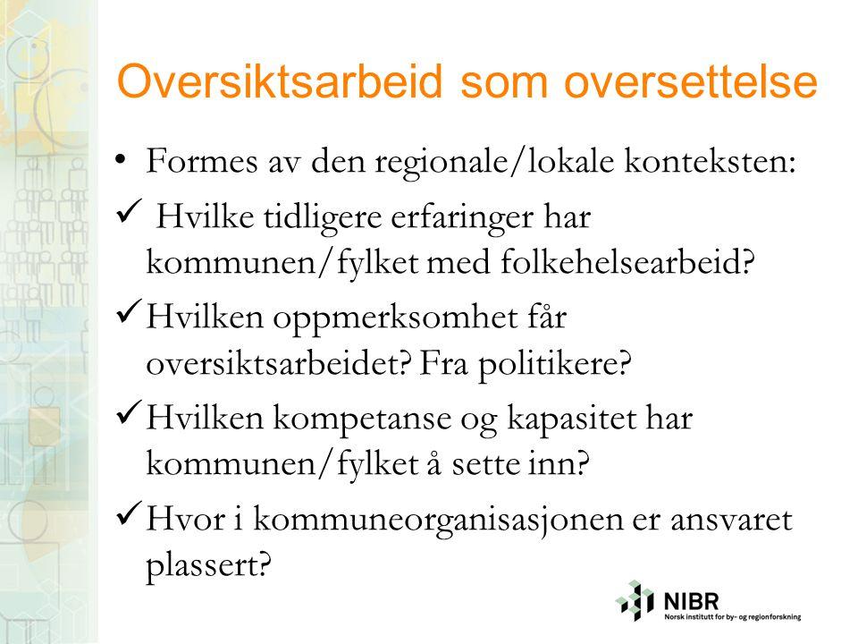 3.Erfaringer fra Vestfold A.Utvikling av ny forståelse B.