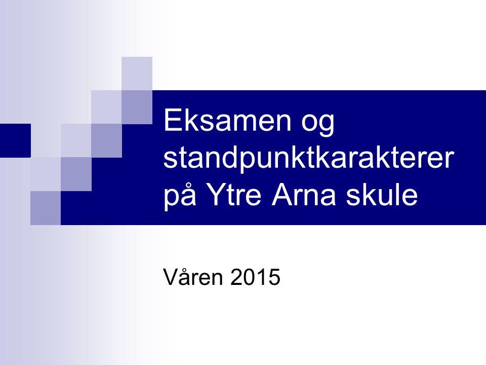 Eksamen og standpunktkarakterer på Ytre Arna skule Våren 2015