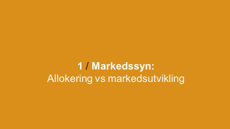1 / Markedssyn: Allokering vs markedsutvikling