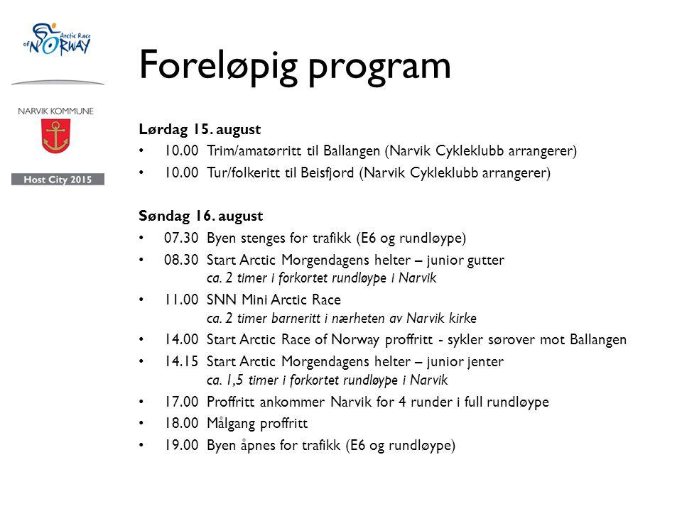 Foreløpig program Lørdag 15.