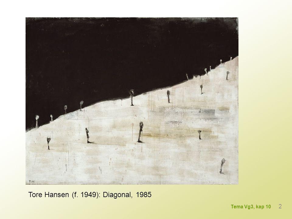 Tore Hansen (f. 1949): Diagonal, 1985 2 Tema Vg3, kap 10
