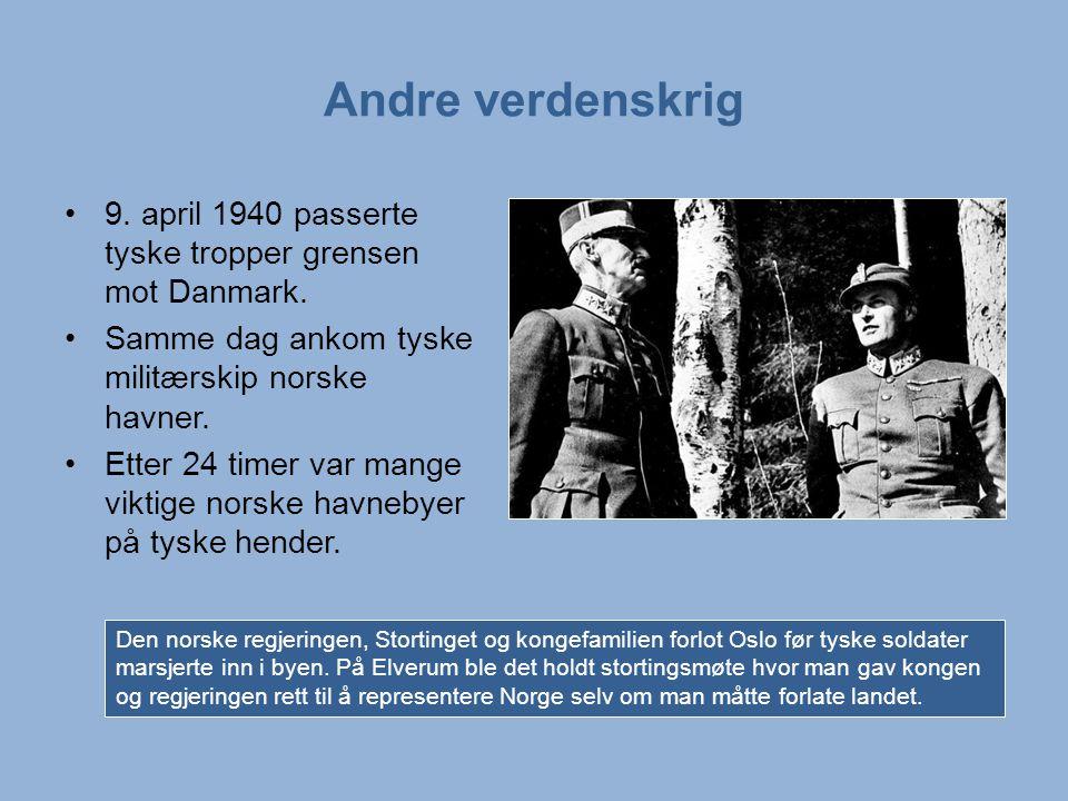 Andre verdenskrig 9.april 1940 passerte tyske tropper grensen mot Danmark.