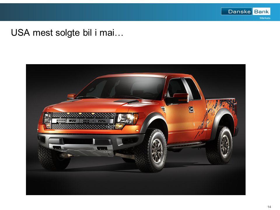 14 USA mest solgte bil i mai…